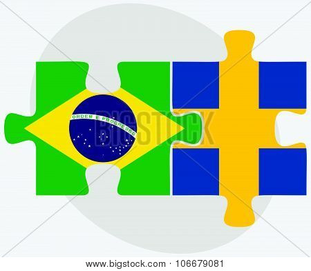 Brazil And Sweden Flags