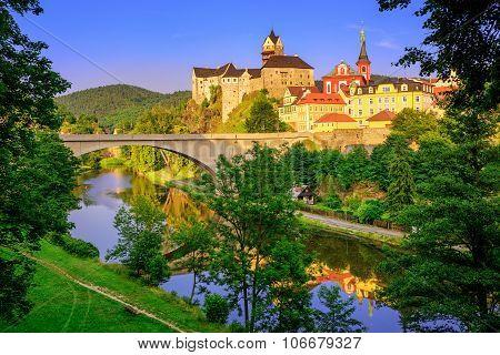 Castle Loket Int The Near Of Karlovy Vary, Czech Republic
