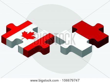 Canada And Monaco Flags
