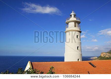 Cap Gros lighthouse in Port Soller, Mallorca