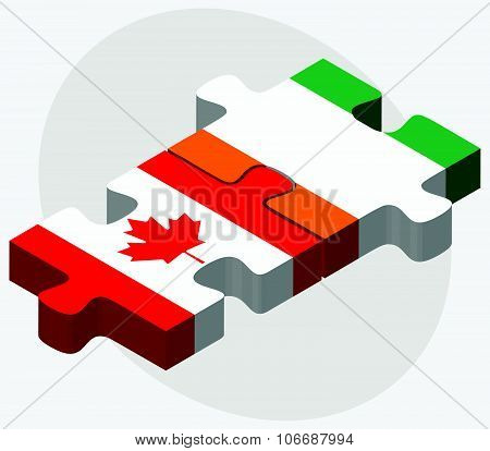 Canada And Cote Divoire Flags