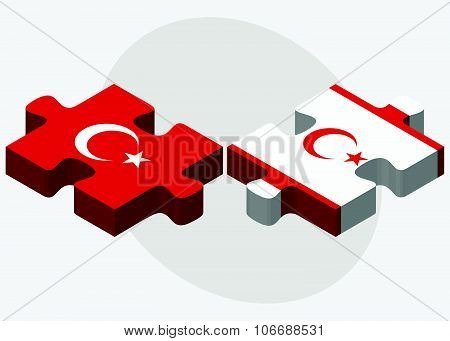 Turkey And Turkish Republic Of North Cyprus Flags