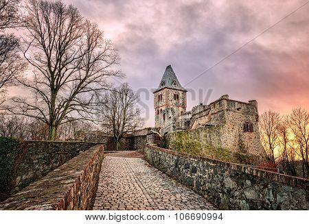 Castle Frankenstein In Odenwald, Darmstadt, Germany