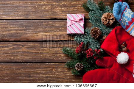 Gift Box And Christmas Things