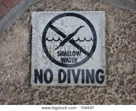 NO DIVING!!