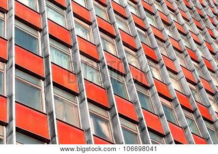 Multi-story Office Building With Terracotta Panels