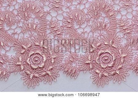 The Macro Shot Of The Pink And Magenta Lace Texture Materia