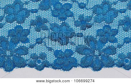 The Macro Shot Of The Blue Flowers Lace Texture Materia