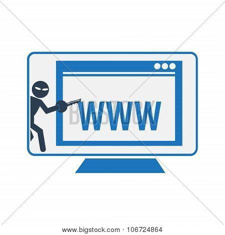 Hacker, Internet Security Concept Illustration.
