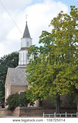 Bruton Parish Church in Colonial Williamsburg, Virginia