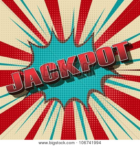 Jackpot comic retro background
