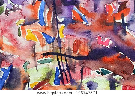a watercolor abstract image use for background