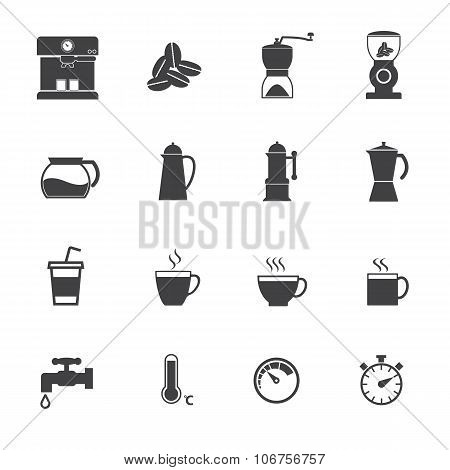 Benefit of coffee. Vector flat design icons set for Infographic and application.