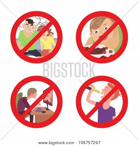 improper conduct prohibition signs