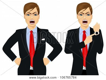 Two angry businessmen