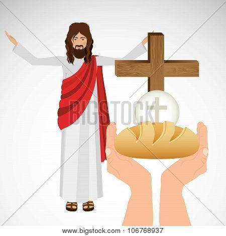 catholic religion design, vector illustration eps10 graphic poster
