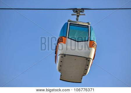 Ropeway And Sky