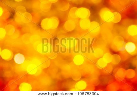 Yellow And Red Blurred Flickering Xmas Lights