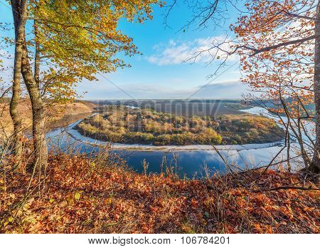 Autumn View Of The River.