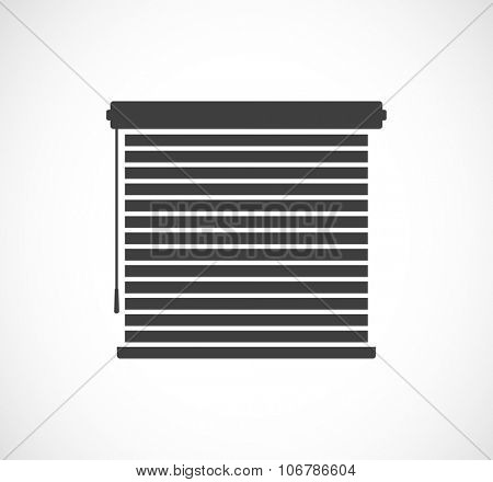 window sun blinds black icon