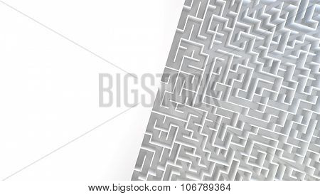 3D Maze in top view.