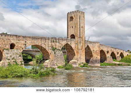 Medieval Stone Bridge In Frias, Spain