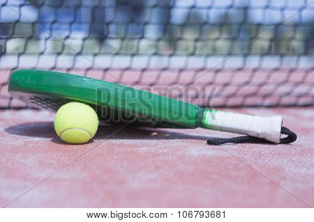 Ball And Racket Of Paddle