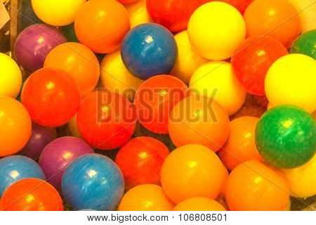 Closeup Of A Colored Plastic Balls Background