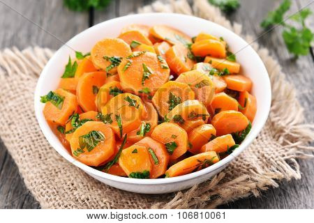 Carrot Salad In White Bowl