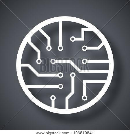 Vector Circuit Board Icon