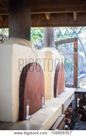 Two Outdoor Fire Ovens