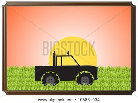 4X4 In Grass Sun Picture