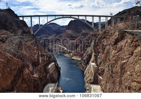 River with Bridge
