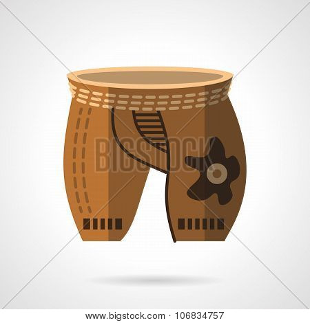 Cycling shorts flat color vector icon