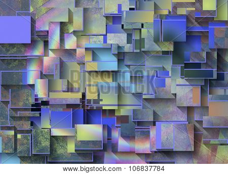 Colorful Dimensional Abstracta