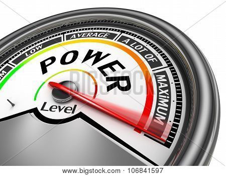Power Level Conceptual Meter Indicate Maximum