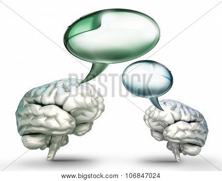 Mind Communication Talk Conceptual Image