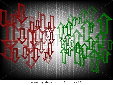 Arrow Up And Down Abstract Background
