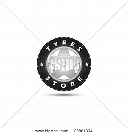 Tires Store Logo Template
