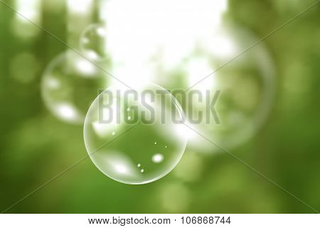 Blurred natural vector background