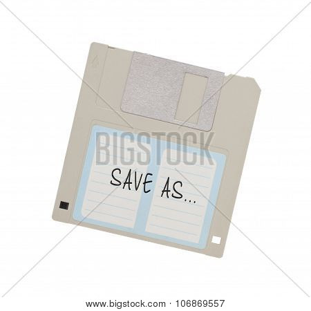 Floppy Disk - Tachnology from the past isolated on white - Save as poster