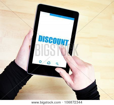 Representation of the word discounts