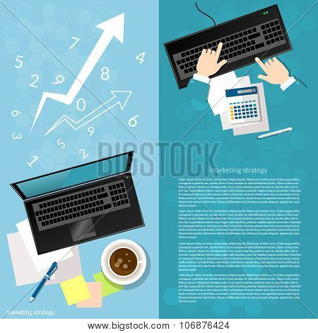 Business Concept People Working In The Office Plan Investment Marketing Reporting banners