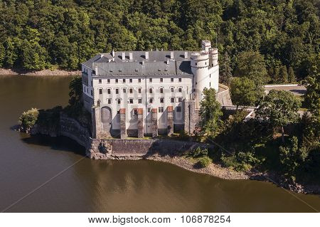 Castle Orlik Under Orlik Dam, Czech Republic