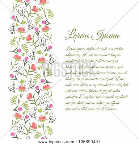 Cute Vintage Floral Border For Decoration