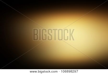 Dark Gold And Black. Defocused Abstract Gold Background Luxury Christmas Holiday, Wedding Background
