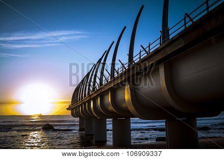 Durban Umhlanga Pier In Sunrise