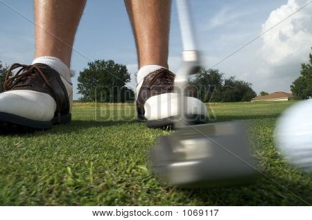 Golf Putt And Ball