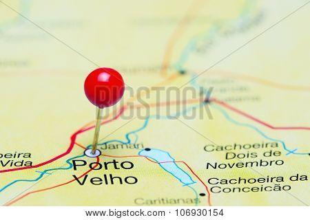 Porto Velho pinned on a map of Brazil