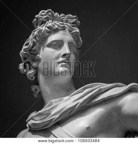 Apollo Belvedere statue. Detail Vatican museum